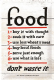 Food Don't Waste It embossed metal sign  300mm x 200mm (na)